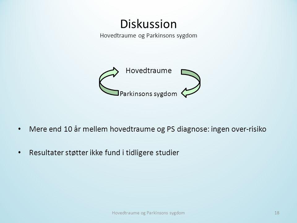 Diskussion Hovedtraume og Parkinsons sygdom