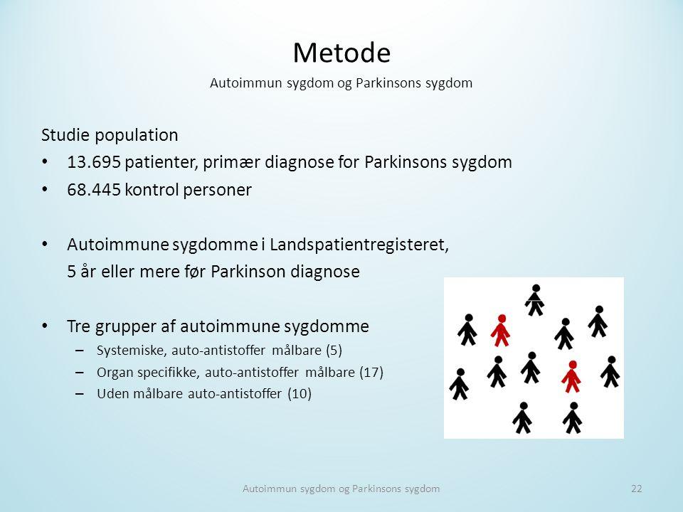 Metode Autoimmun sygdom og Parkinsons sygdom