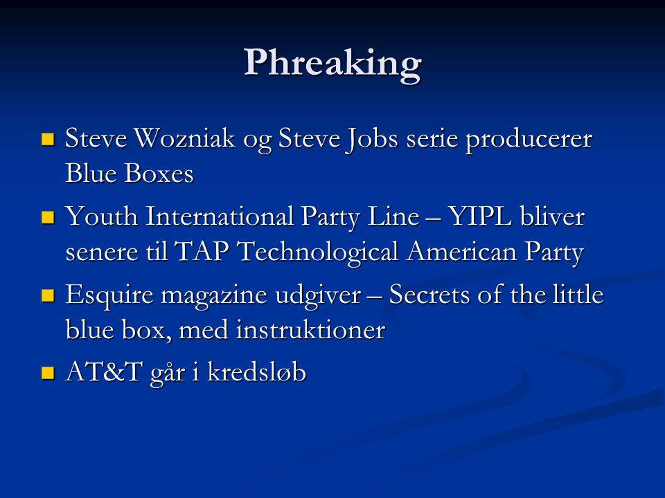 Phreaking Steve Wozniak og Steve Jobs serie producerer Blue Boxes