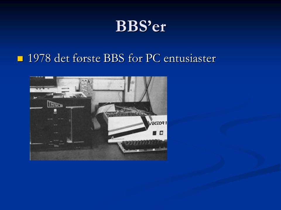 BBS'er 1978 det første BBS for PC entusiaster