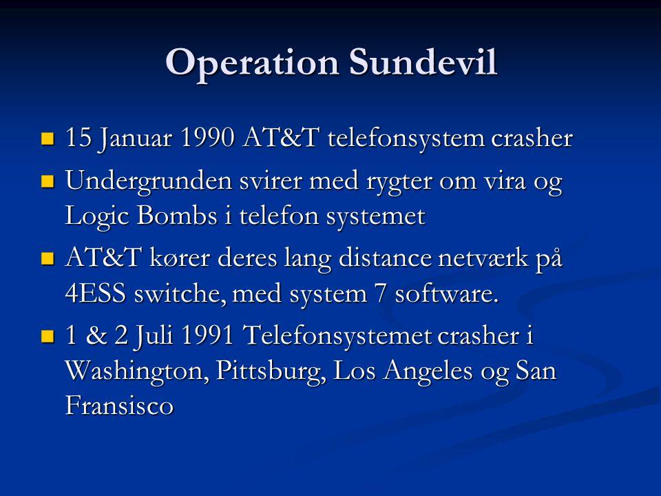Operation Sundevil 15 Januar 1990 AT&T telefonsystem crasher