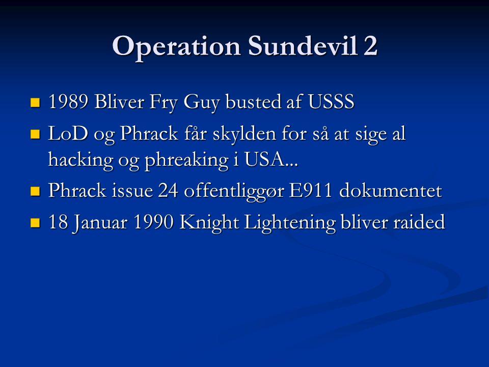 Operation Sundevil 2 1989 Bliver Fry Guy busted af USSS
