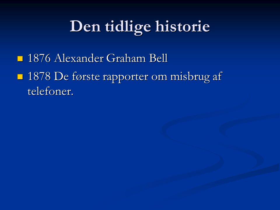 Den tidlige historie 1876 Alexander Graham Bell
