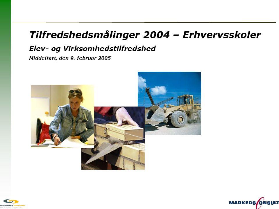 Tilfredshedsmålinger 2004 – Erhvervsskoler