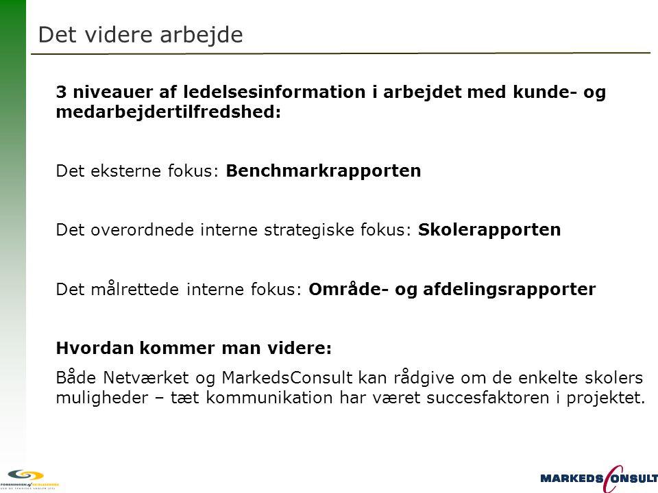 Det videre arbejde 3 niveauer af ledelsesinformation i arbejdet med kunde- og medarbejdertilfredshed: