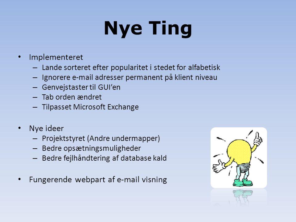 Nye Ting Implementeret Nye ideer Fungerende webpart af e-mail visning