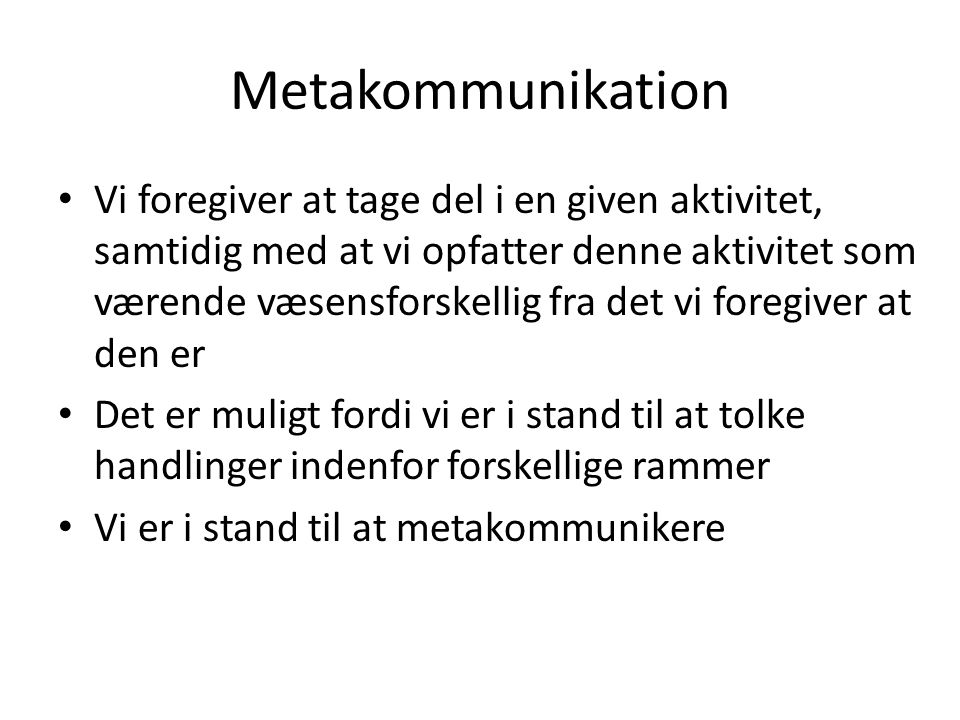 Metakommunikation