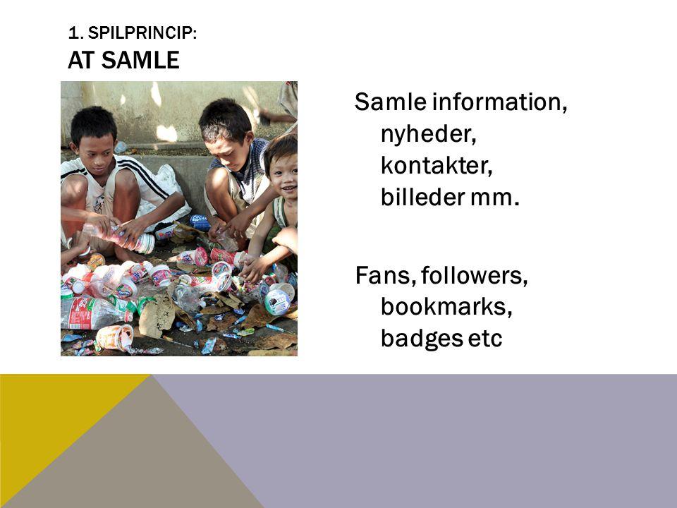 1. Spilprincip: At Samle Samle information, nyheder, kontakter, billeder mm.