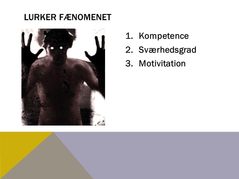 Lurker fænomenet Kompetence Sværhedsgrad Motivitation