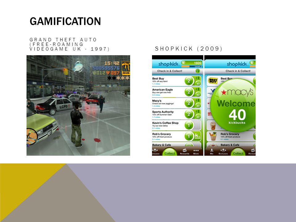 Gamification Shopkick (2009)