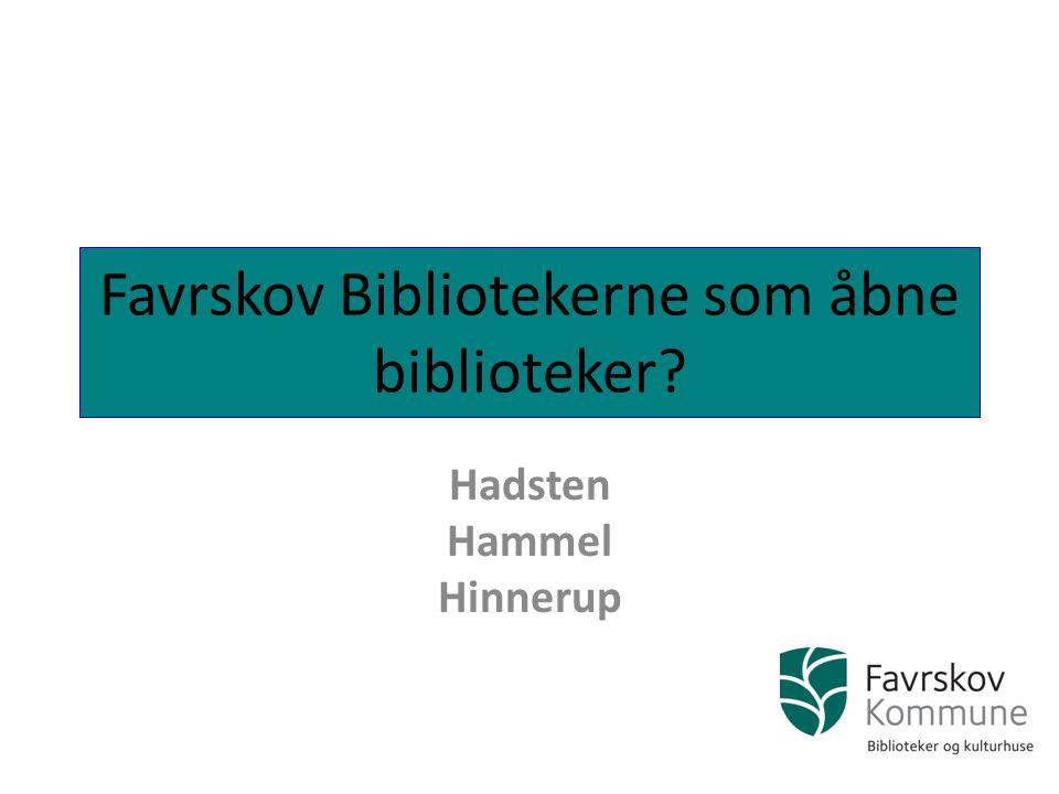 Favrskov Bibliotekerne som åbne biblioteker