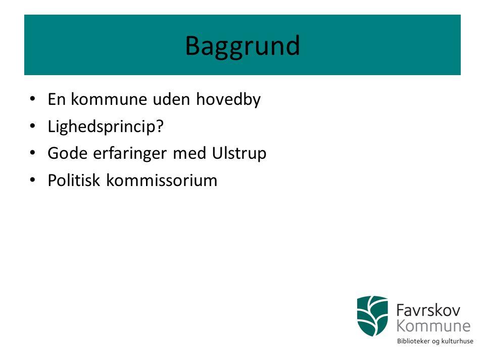 Baggrund En kommune uden hovedby Lighedsprincip