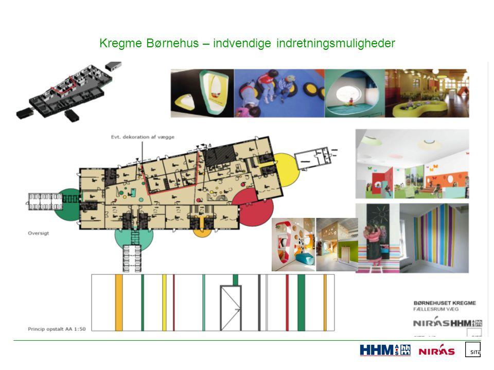 Kregme Børnehus – indvendige indretningsmuligheder