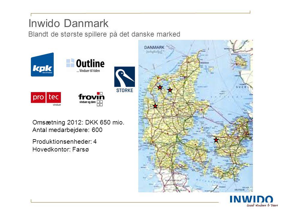 Inwido Danmark Blandt de største spillere på det danske marked