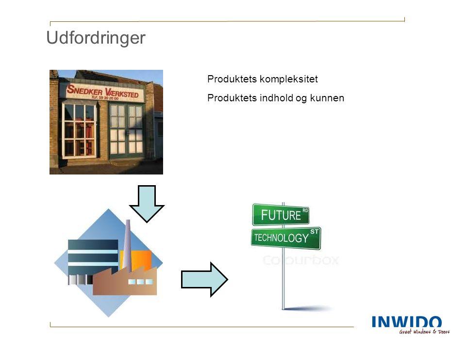 Udfordringer Produktets kompleksitet Produktets indhold og kunnen