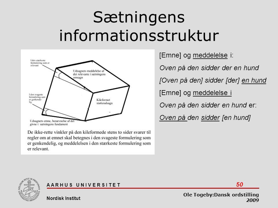 Sætningens informationsstruktur