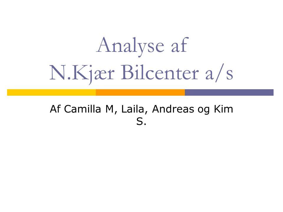 Analyse af N.Kjær Bilcenter a/s
