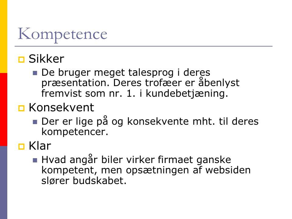 Kompetence Sikker Konsekvent Klar