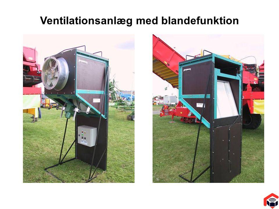 Ventilationsanlæg med blandefunktion