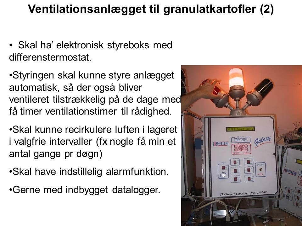 Ventilationsanlægget til granulatkartofler (2)
