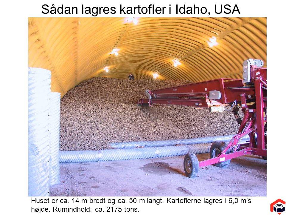 Sådan lagres kartofler i Idaho, USA