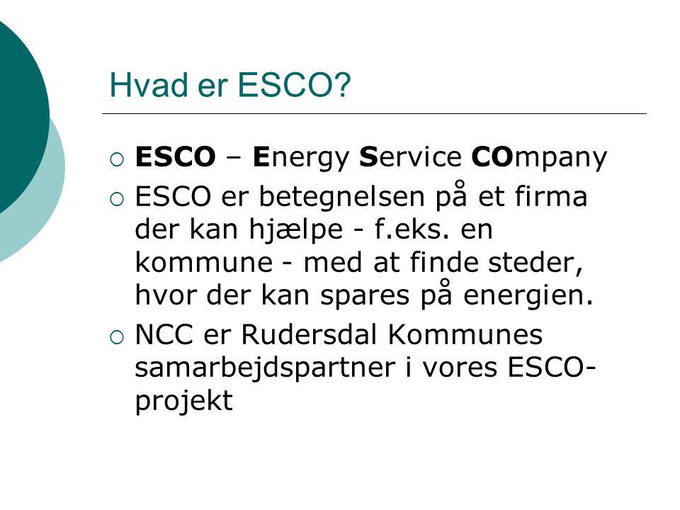 Hvad er ESCO ESCO – Energy Service COmpany