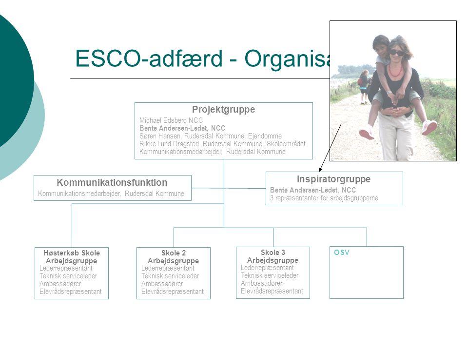 ESCO-adfærd - Organisation