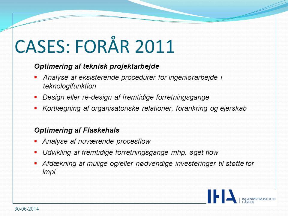 CASES: FORÅR 2011 Optimering af teknisk projektarbejde