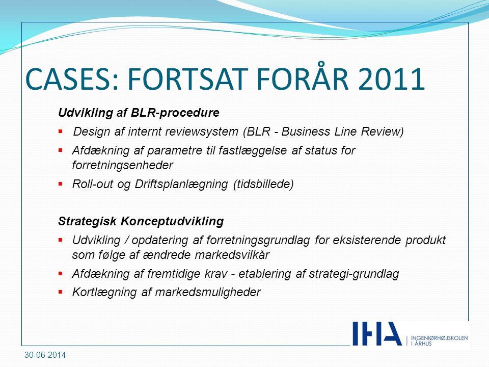 CASES: FORTSAT FORÅR 2011 Udvikling af BLR-procedure