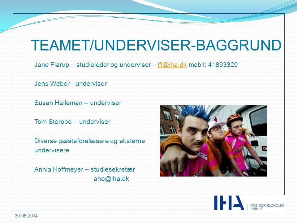 TEAMET/UNDERVISER-BAGGRUND