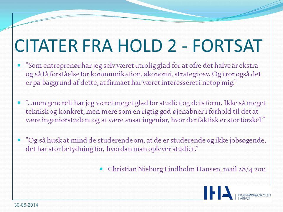 CITATER FRA HOLD 2 - FORTSAT