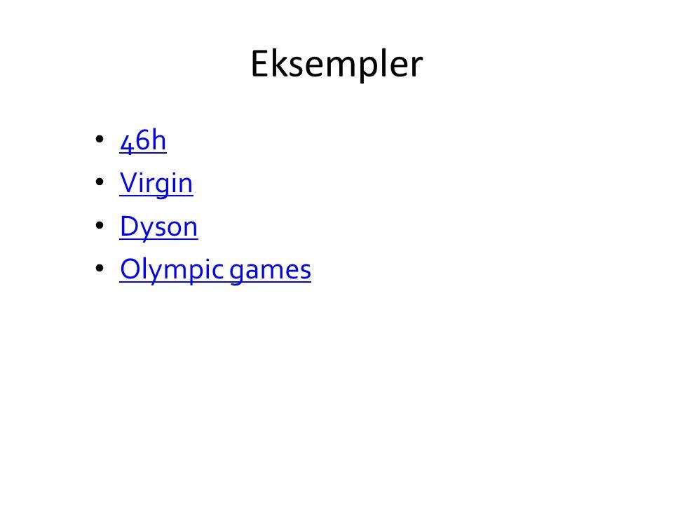 Eksempler 46h Virgin Dyson Olympic games