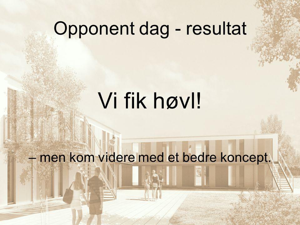 Opponent dag - resultat