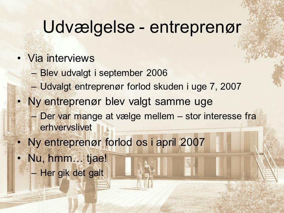 Udvælgelse - entreprenør