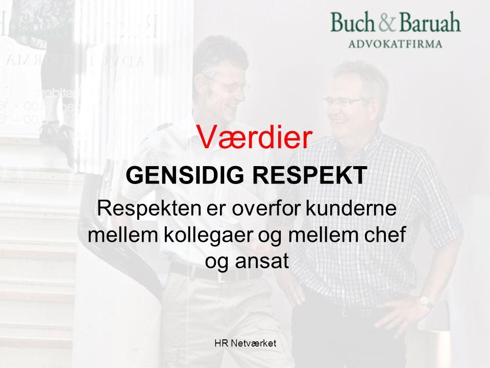 Respekten er overfor kunderne mellem kollegaer og mellem chef og ansat