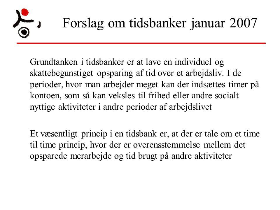 Forslag om tidsbanker januar 2007