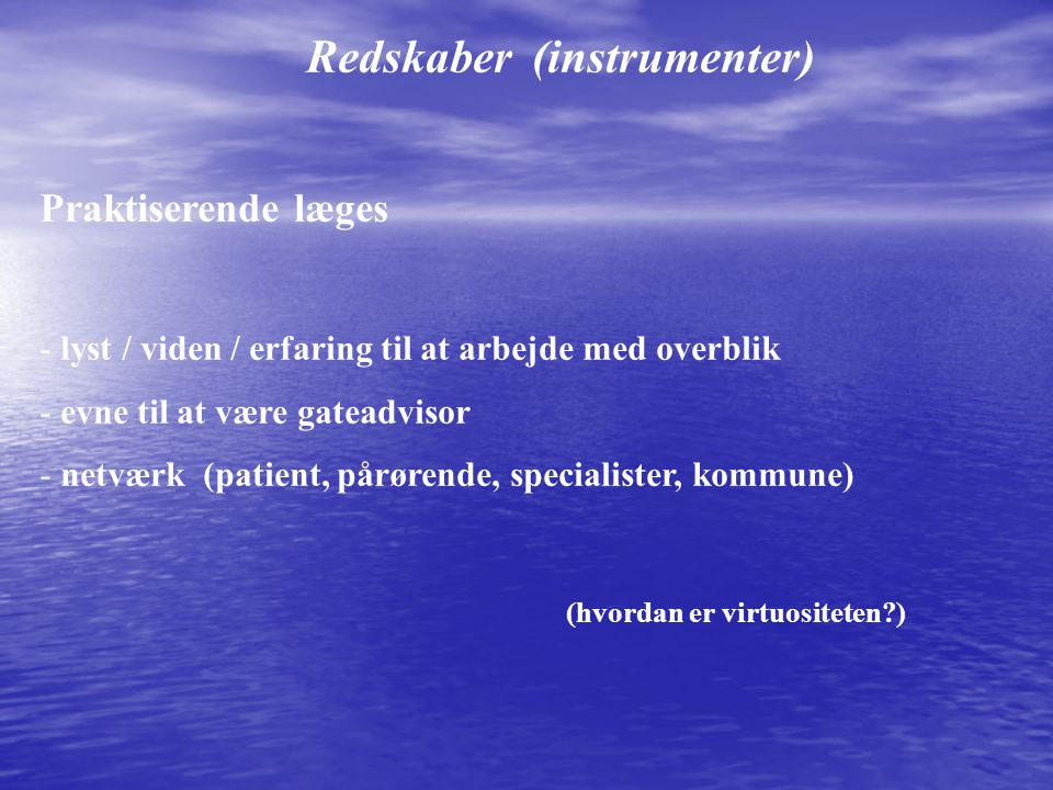 Redskaber (instrumenter)