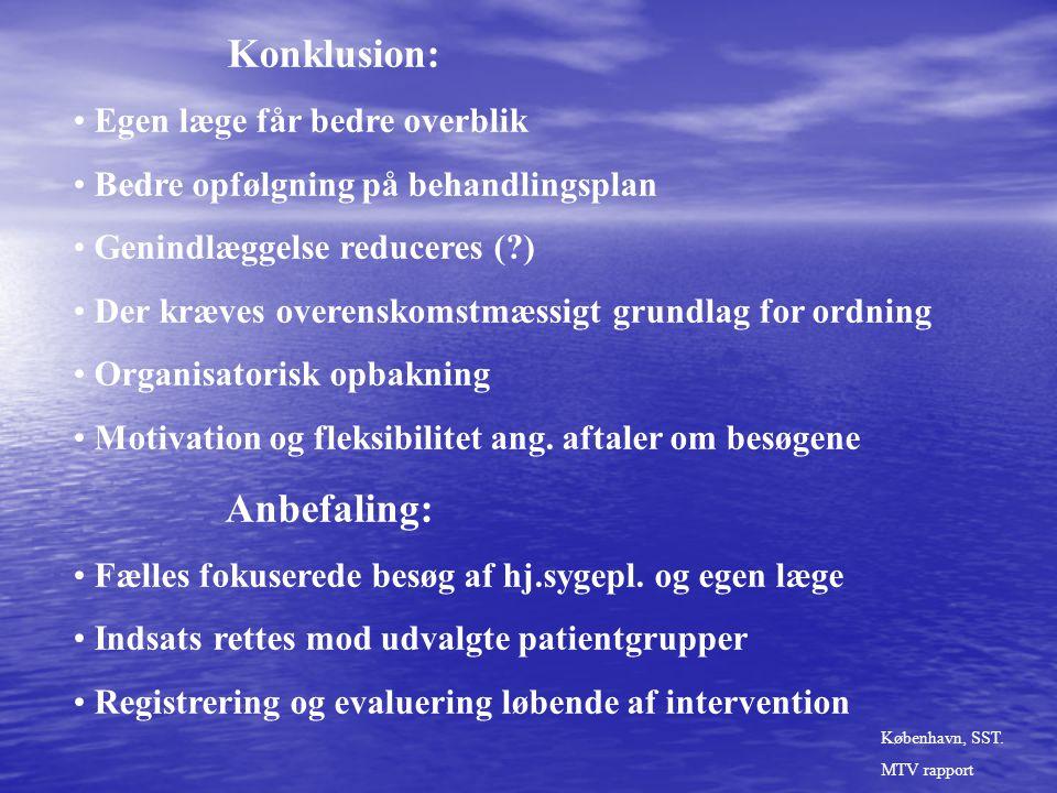 Konklusion: Anbefaling: Egen læge får bedre overblik