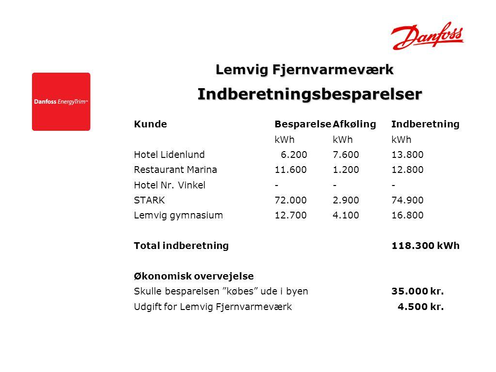 Lemvig Fjernvarmeværk Indberetningsbesparelser