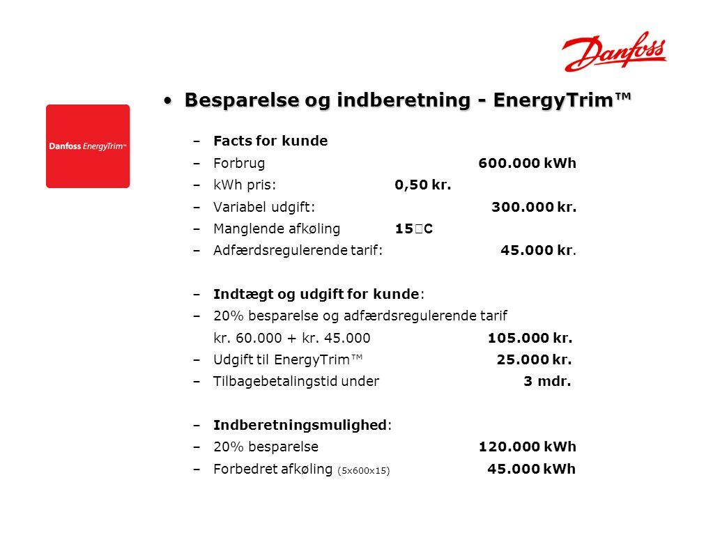 Besparelse og indberetning - EnergyTrim™