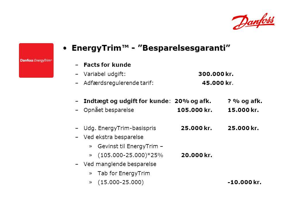 EnergyTrim™ - Besparelsesgaranti