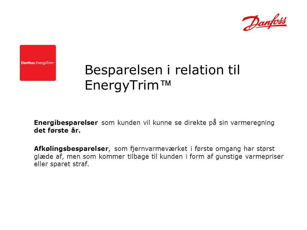 Besparelsen i relation til EnergyTrim™