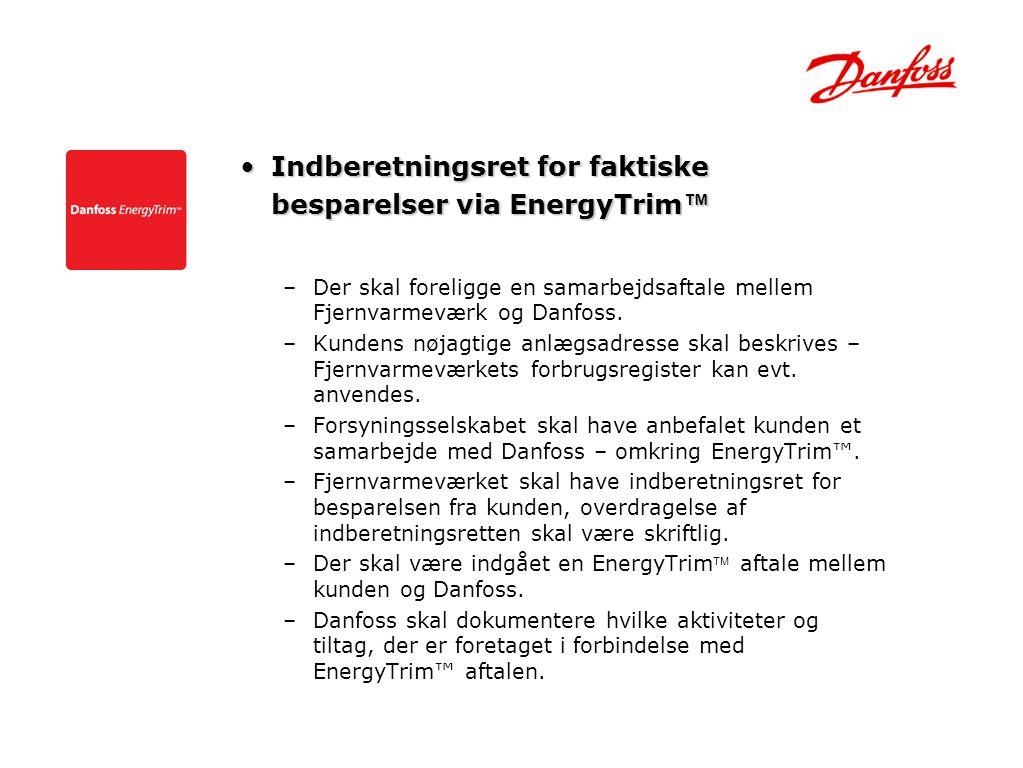 Indberetningsret for faktiske besparelser via EnergyTrim™