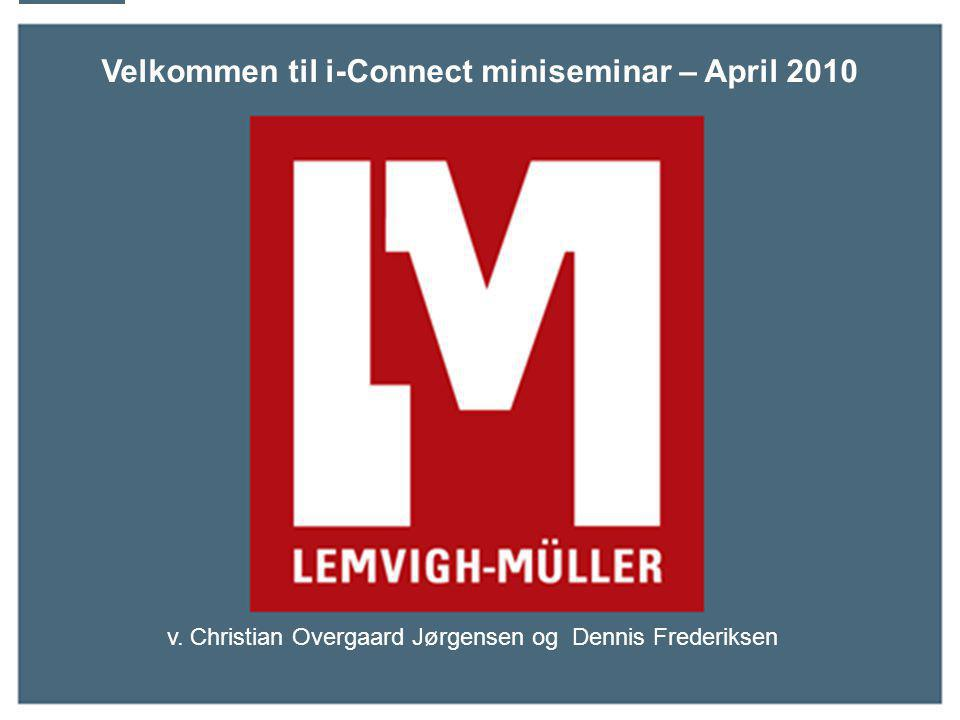 Velkommen til i-Connect miniseminar – April 2010