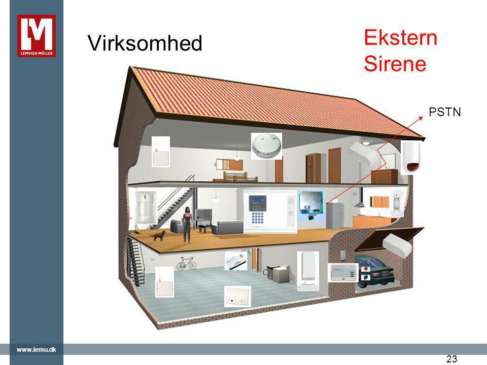 Virksomhed Ekstern Sirene PSTN