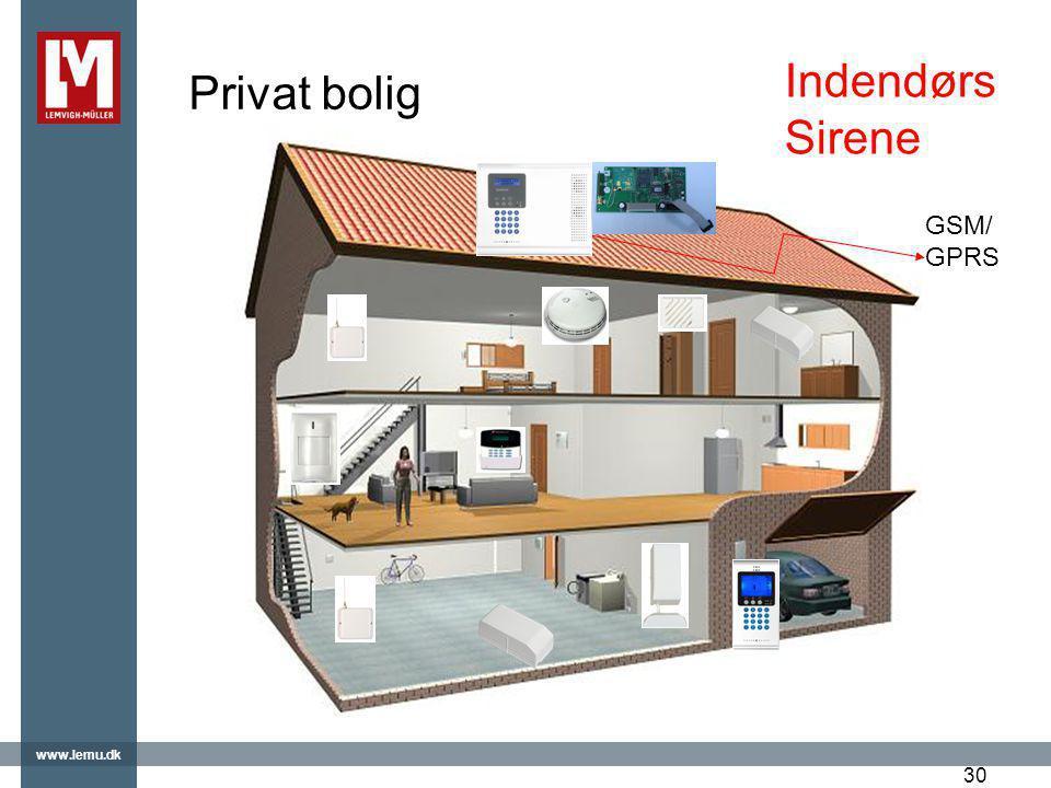 Privat bolig Indendørs Sirene GSM/GPRS 30 30