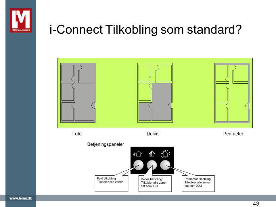 i-Connect Tilkobling som standard