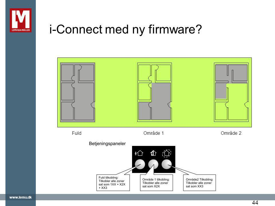 i-Connect med ny firmware
