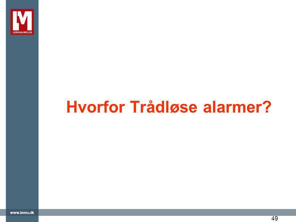 Hvorfor Trådløse alarmer