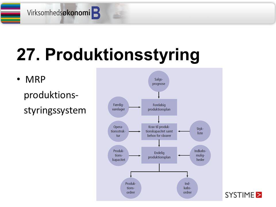27. Produktionsstyring MRP produktions- styringssystem